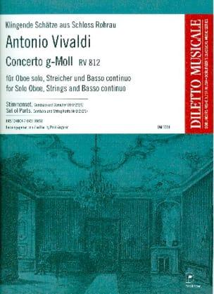 Concerto en sol mineur RV 812 VIVALDI Partition laflutedepan