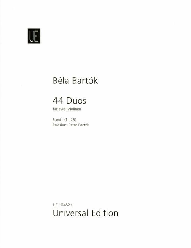44 Duos Volume 1 - 1-25 - BARTOK - Partition - laflutedepan.com