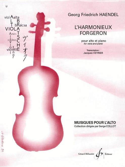 L'harmonieux forgeron - Alto et piano - HAENDEL - laflutedepan.com