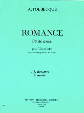 Romance - A. Tolbecque - Partition - Violoncelle - laflutedepan.com
