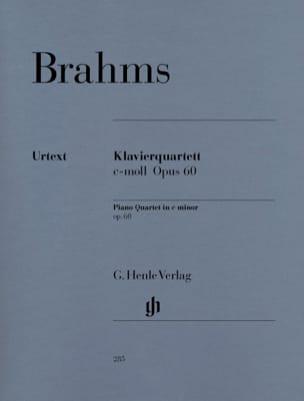 Quatuor avec piano en ut mineur op. 60 BRAHMS Partition laflutedepan
