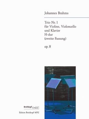 Klaviertrio Nr. 1 H-Dur op. 8 2. Fassung -Stimmen BRAHMS laflutedepan