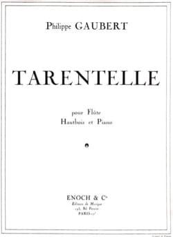Tarentelle Philippe Gaubert Partition Trios - laflutedepan