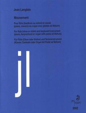 Mouvement - Flûte et Clavier Jean Langlais Partition laflutedepan