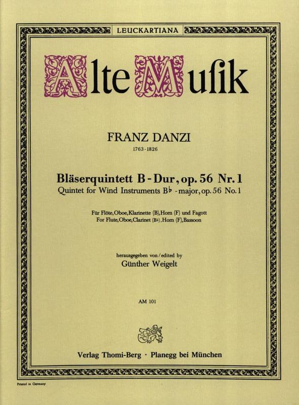 Bläserquintett B-Dur op. 56 Nr. 1 -Stimmen - laflutedepan.com