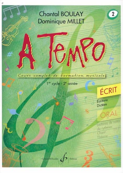 A Tempo Volume 2 - Ecrit - BOULAY - MILLET - laflutedepan.com
