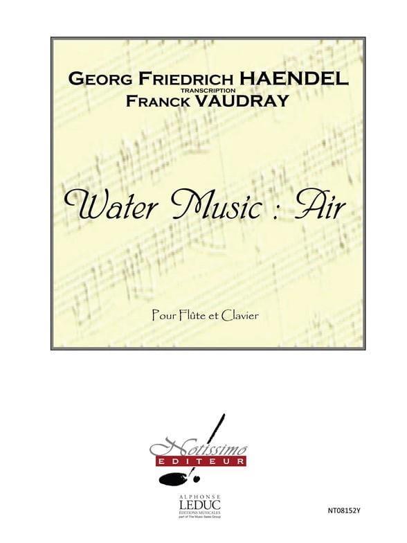 Water Music : Air - Flûte piano - HAENDEL - laflutedepan.com