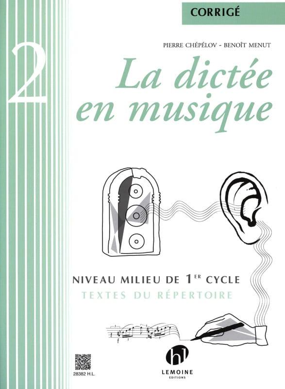 La Dictée en Musique - Corrigé - Volume 2 - laflutedepan.com
