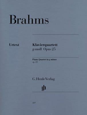 Quatuor avec piano en sol mineur op. 25 BRAHMS Partition laflutedepan