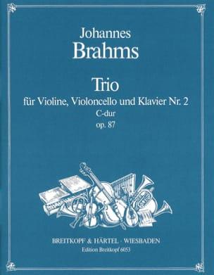 Klaviertrio Nr. 2 C-Dur, Opus 87 -stimmen BRAHMS laflutedepan