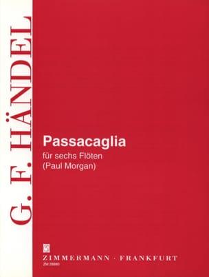 Passacaglia - 6 Flöten HAENDEL Partition laflutedepan