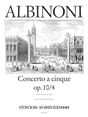 Concerto a cinque op. 10/4 - Conducteur ALBINONI laflutedepan