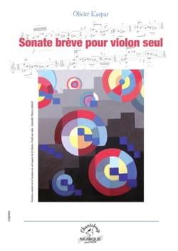 Sonate brève Olivier Kaspar Partition Violon - laflutedepan