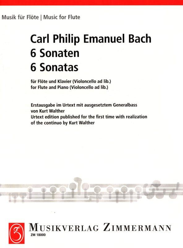 6 Sonaten - Flöte und Bc Klavier - laflutedepan.com
