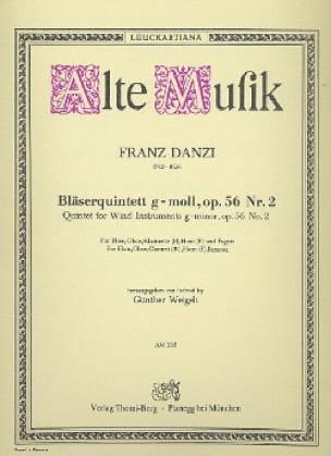 Bläserquintett G-Moll Op. 56 Nr. 2 - Franz Danzi - laflutedepan.com