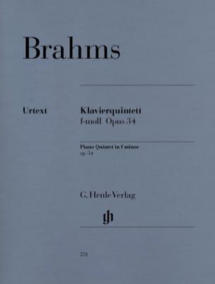 Quintette avec piano en fa mineur op. 34 BRAHMS Partition laflutedepan