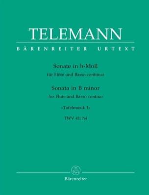 Sonate h-moll - Flöte und Bc TELEMANN Partition laflutedepan