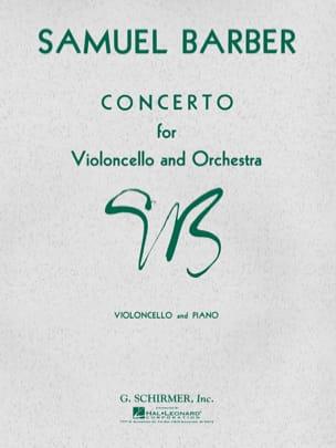 Concerto Violoncelle op. 22 BARBER Partition laflutedepan