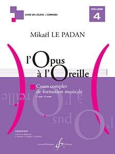 L'Opus à l'Oreille - Volume 4 Mikaël LE PADAN Partition laflutedepan