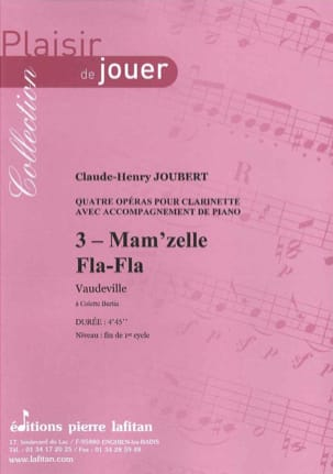 Claude-Henry Joubert - Mam'zelle Fla-Fla - Partition - di-arezzo.co.uk