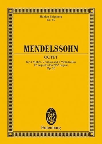 Oktett Es-Dur, Op. 20 - MENDELSSOHN - Partition - laflutedepan.com
