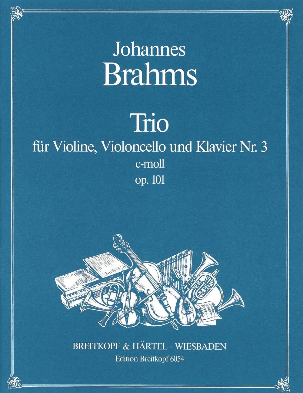 Klaviertrio Nr. 3 c-moll op. 101 -Stimmen - BRAHMS - laflutedepan.com