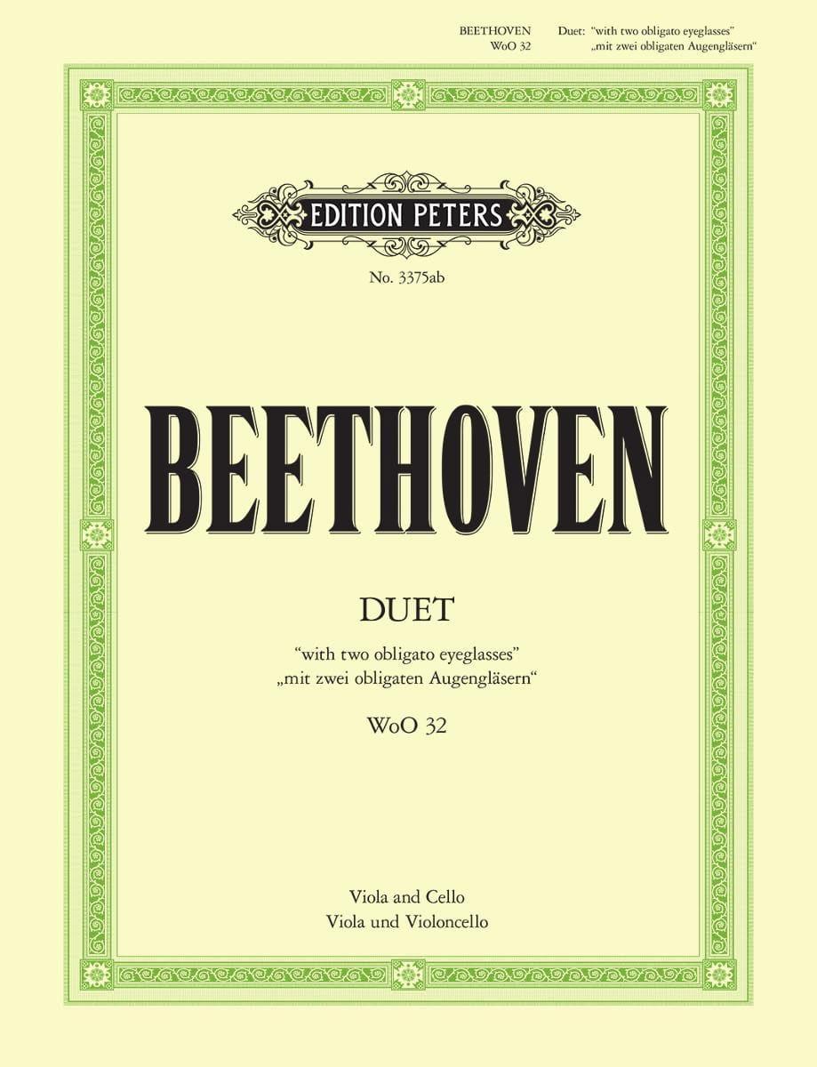 Duet WoO 32 - BEETHOVEN - Partition - 0 - laflutedepan.com