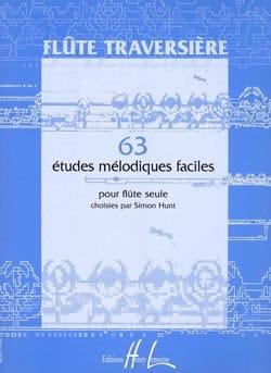 Simon Hunt - 63 Easy melodic studies - Flute alone - Partition - di-arezzo.com