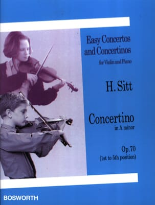 Concertino op. 70 in A minor Hans Sitt Partition Violon - laflutedepan