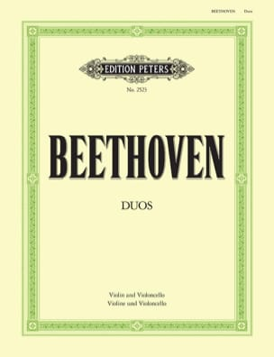 Duos - Violin Cello BEETHOVEN Partition 0 - laflutedepan