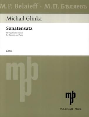 Sonatensatz en SOL mineur GLINKA Partition Basson - laflutedepan
