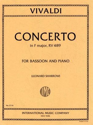 Concerto F. 8 n° 20 in F major RV 489 VIVALDI Partition laflutedepan