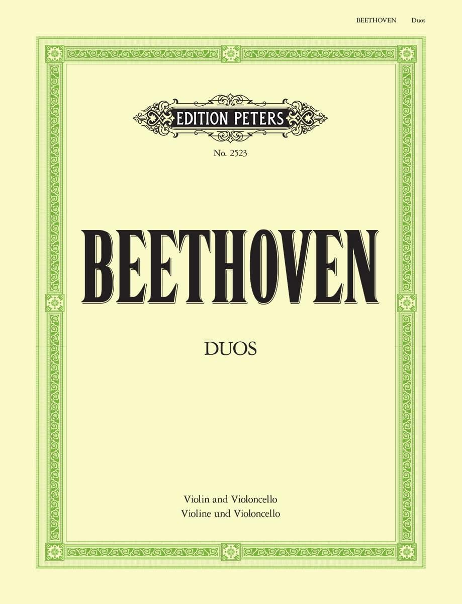 Duos - Violin Cello - BEETHOVEN - Partition - 0 - laflutedepan.com