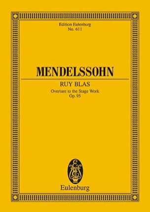 Ruy Blas, Op. 95 - Ouverture MENDELSSOHN Partition laflutedepan
