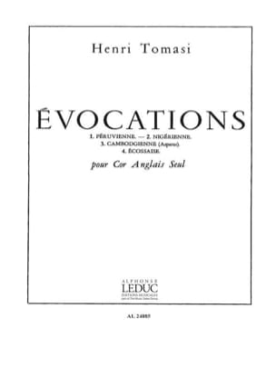 Evocations TOMASI Partition Hautbois - laflutedepan