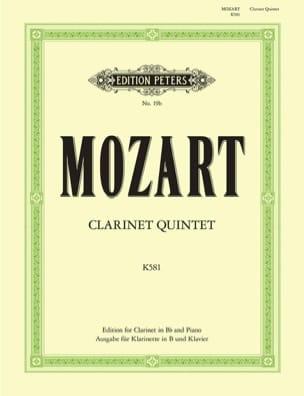 Clarinet Quintet KV 581 - Clarinet in Bb piano MOZART laflutedepan
