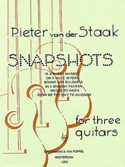 Snapshots -3 Guitars Peter van der Staak Partition laflutedepan