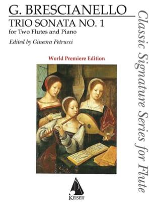 Trio Sonata n° 1 Giuseppe Antonio Brescianello Partition laflutedepan