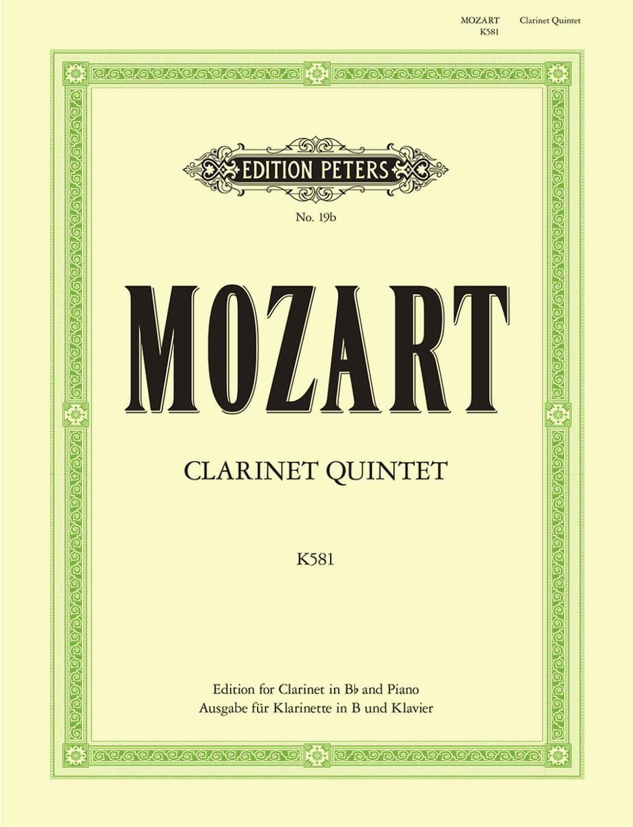 Clarinet Quintet KV 581 - Clarinet in Bb piano - laflutedepan.com