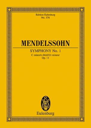 Symphonie Nr. 1 c-moll - Partitur MENDELSSOHN Partition laflutedepan