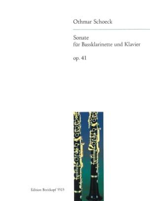 Sonate op. 41 - Bassklarinette u. Klavier Othmar Schoeck laflutedepan