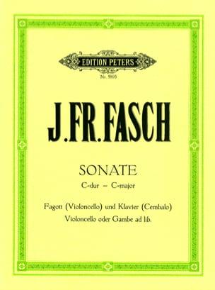 Sonate C-Dur -Fagott Violoncello Klavier Cembalo laflutedepan