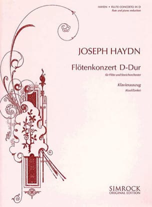Konzert D-Dur - Flöte Klavier HAYDN Partition laflutedepan