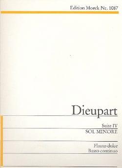 Suite 4 g-Moll Charles François Dieupart Partition laflutedepan