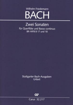 2 Sonaten in e-moll und F-Dur Wilhelm Friedemann Bach laflutedepan