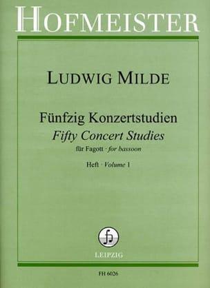 50 Konzertstudien - Heft 1 Ludwig Milde Partition laflutedepan
