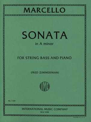Sonate A minor - String bass Benedetto Marcello Partition laflutedepan