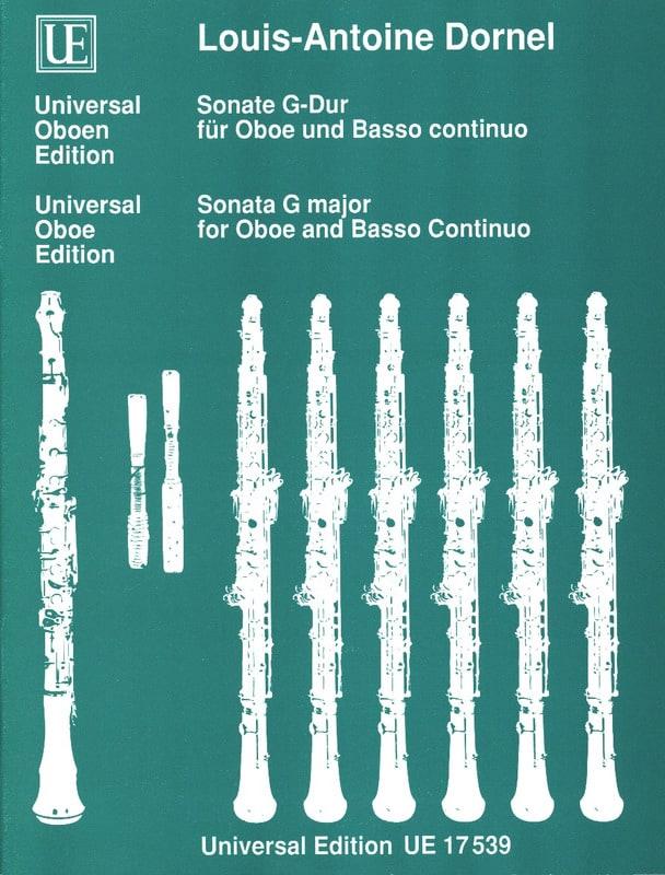 Sonate G-Dur - Hautbois et Basse continue - laflutedepan.com