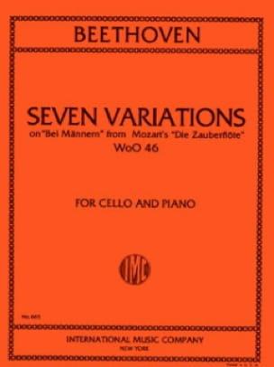 7 Variations - BEETHOVEN - Partition - Violoncelle - laflutedepan.com