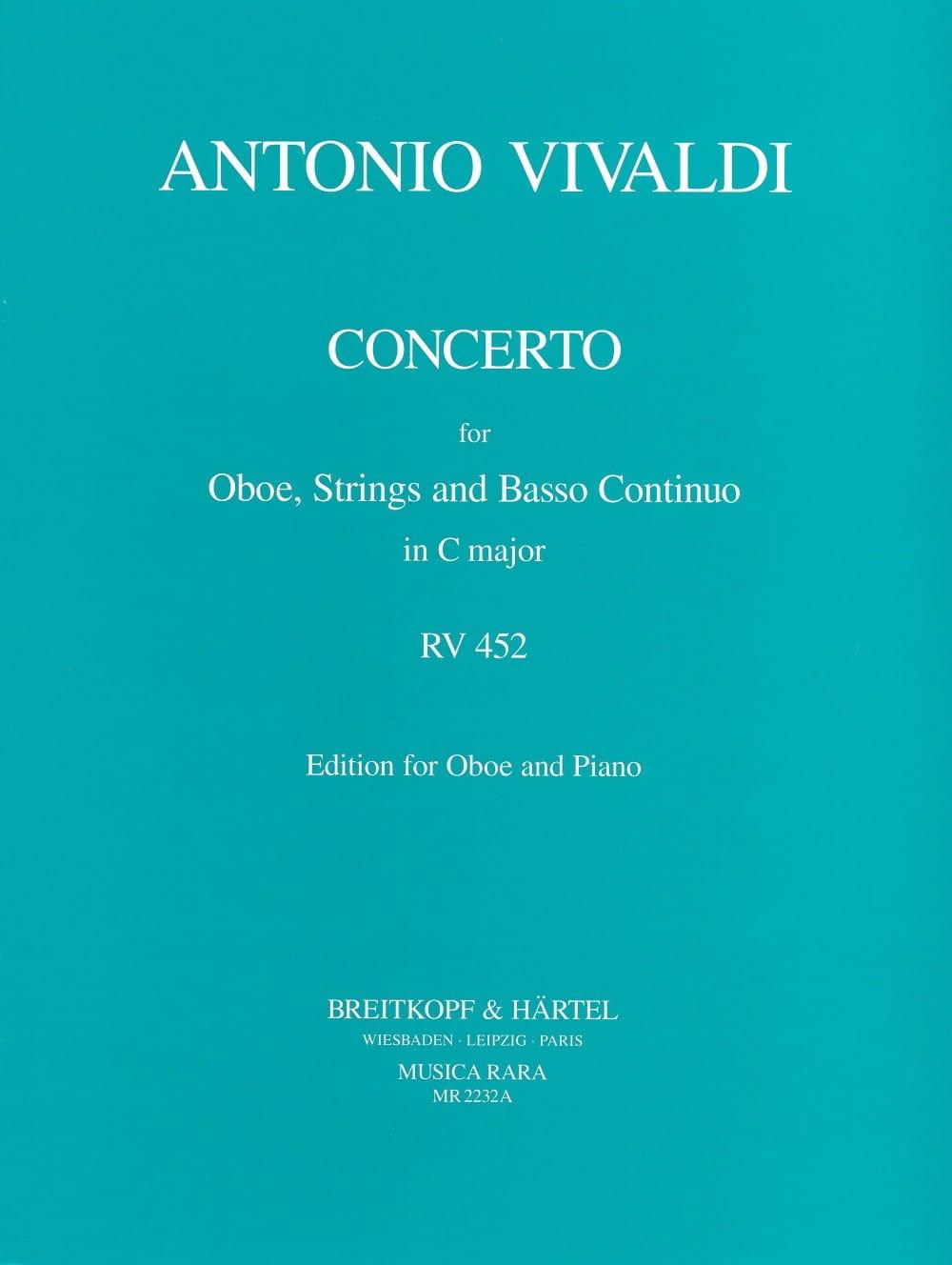 Concerto Hautbois, Cordes et B.C. En Do Maj - Rv.452 - laflutedepan.com